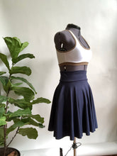 Navy Blue High Waist Pocket Skirt