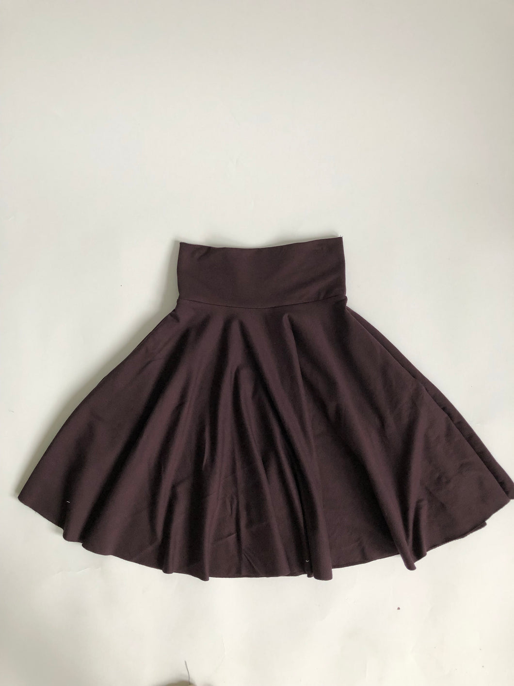 Dark Brown High Waist Pocket Skirt