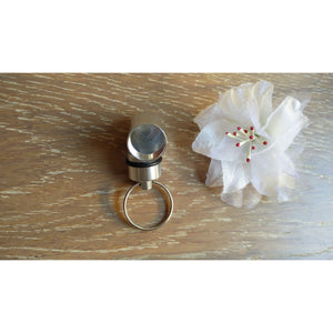 Stainless Steel Cylinder - Key Ring