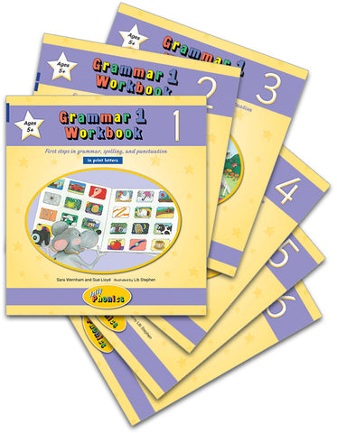 Grammar 1 Workbooks, set of 1-6