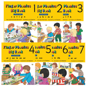 Finger Phonics Big Books, set of 1-7