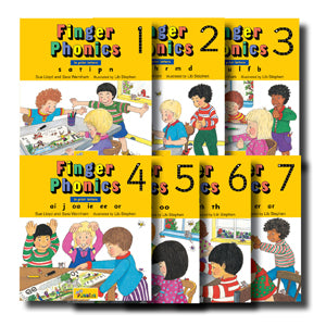 Finger Phonics Board Books, set of 1-7
