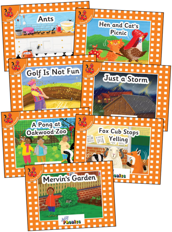 Jolly Phonics Orange Readers, Level 0, Complete Set