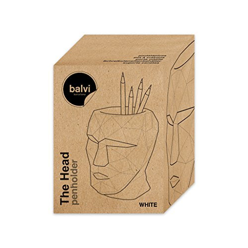 PORTAPENNE BALVI THE HEAD CEMENTO BIANCO ART 26919