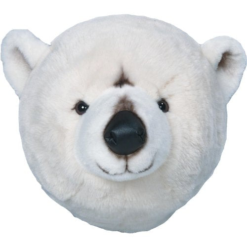 "TROFEO PELUCHE DA PARETE WILD AND SOFT ""BASILE"" BEAR WHITE ART WS0023"