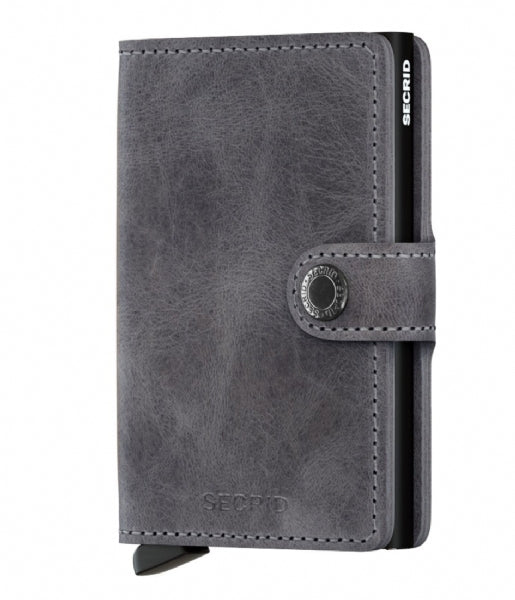 MINIWALLET SECRID  VINTAGE grey-black