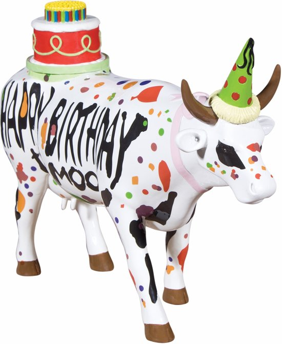 COW PARADE HAPPY BIRTHDAY LARGE
