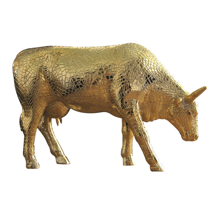 COW PARADE MIRA MOO GOLD LARGE