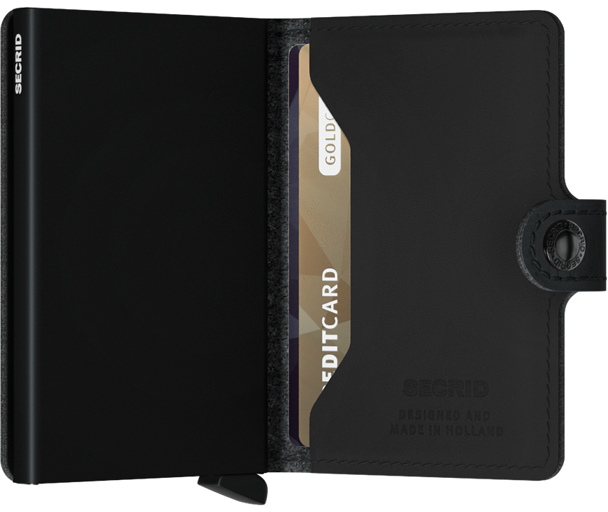 MINIWALLET SECRID PERFORED BLACK