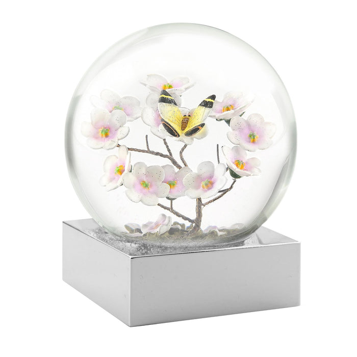 COOL SNOW GLOBE BUTTERFLY ON BRANCH CS115-BUTB