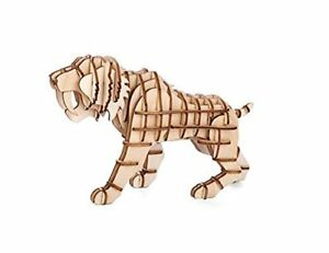 3D WOODEN PUZZLE KIKKERLAND SABERTOOTH TIGER