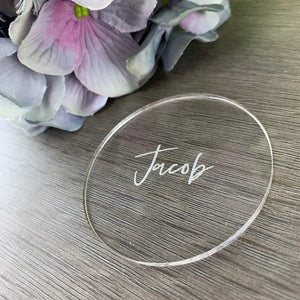 Acrylic Place Card Circle - Elegance Collection - Wedding Lux