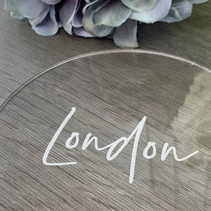 Acrylic Table Names Circle -  Elegance Collection - Wedding Lux