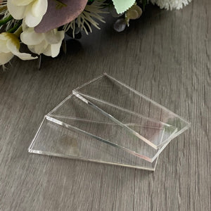 Acrylic Blank Place Cards Rectangle - Wedding Lux