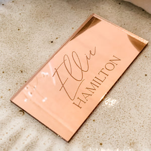 Rose Gold Place Card Rectangle - The Wild Collection