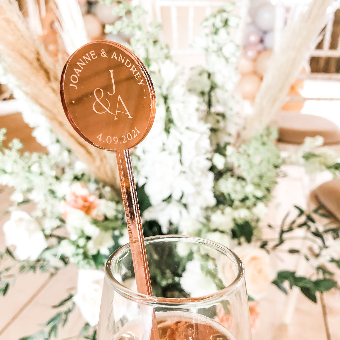 Monogram Mirror Personalised Cocktail Stirrer