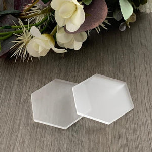 Frosted Acrylic Blank Place Card Hexagon - Wedding Lux