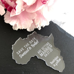 Acrylic Save The Date Country - Custom Collection - Wedding Lux