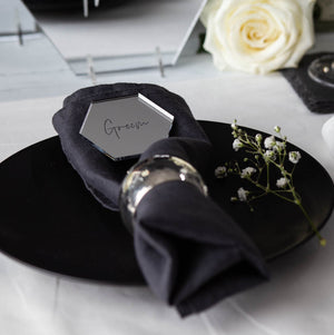 Mirror Place Names Hexagon - Elegance Collection - Wedding Lux