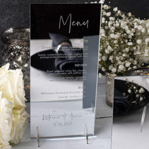Mirror Menu DL Shape - Elegance Collection - Wedding Lux