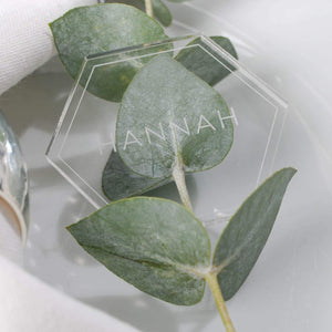 Acrylic Place Setting Hexagon - Minimalist Collection - Wedding Lux