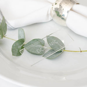 Acrylic Place Card Rectangle- Minimalist Collection - Wedding Lux