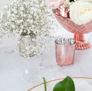Acrylic Table Name Circle - Romance Collection - Wedding Lux