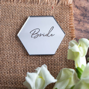 Mirror Place Name Hexagon - Wanderlust Collection - Wedding Lux