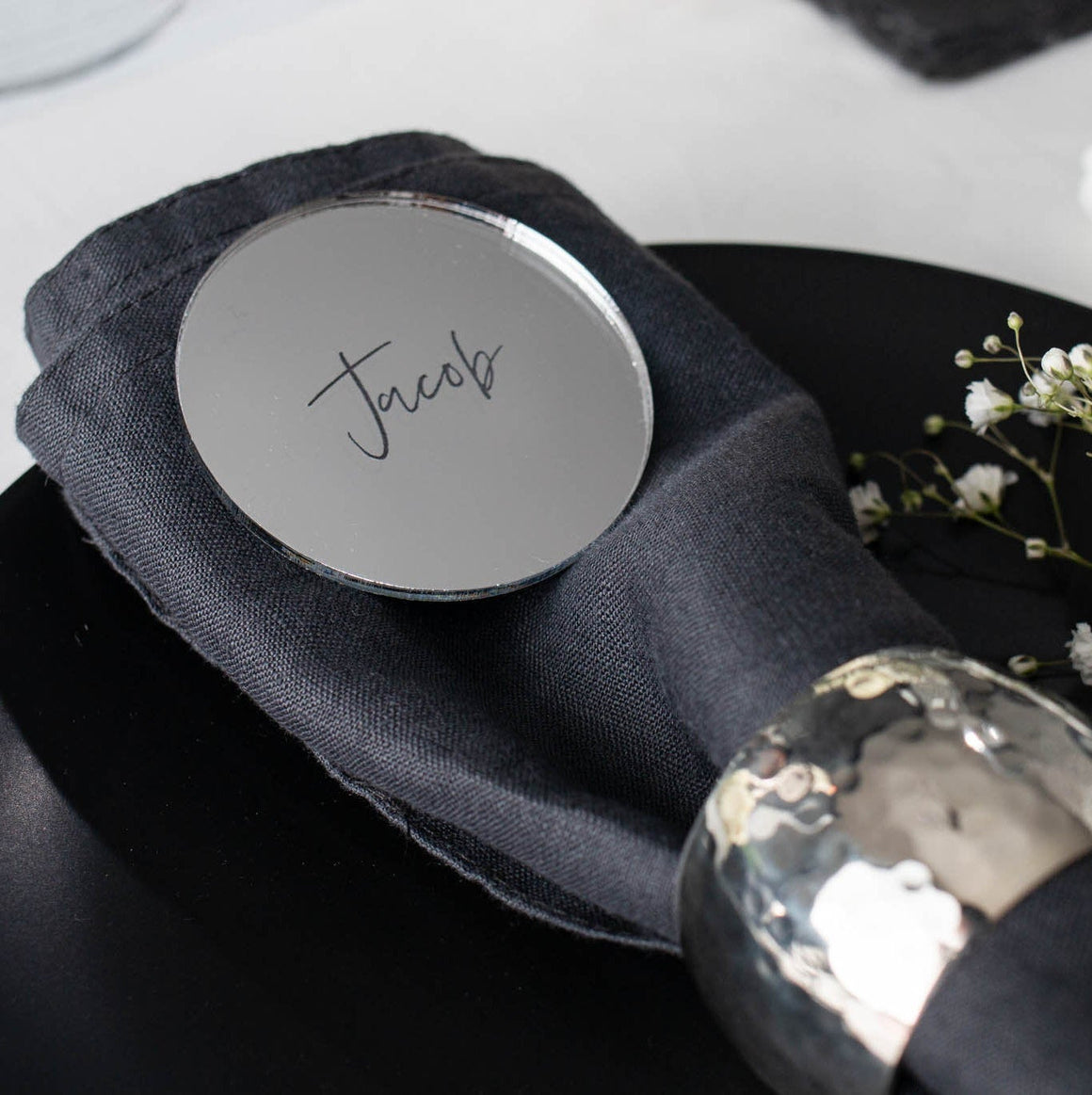 Mirror Name Place Circle - Elegance Collection - Wedding Lux