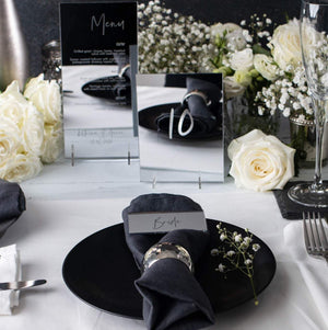 Mirror Place Names Rectangle - Elegance Collection - Wedding Lux