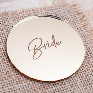 Mirror Place Card Circle - Signature Collection - Wedding Lux