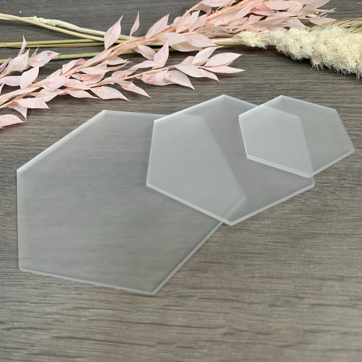 Frosted Acrylic Blank Hexagon
