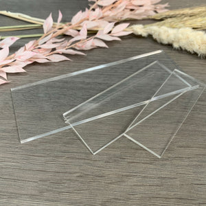 Clear Acrylic Blank Rectangles