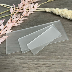 Frosted Acrylic Blank Rectangle