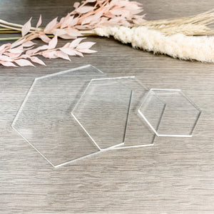 Clear Acrylic Blank Hexagon
