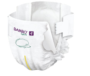 Bambo Nature Eco Nappies - Size 4 Tall Pack (15-40lbs/7-18kg)