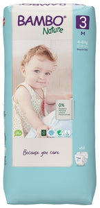 Bambo Nature Eco Nappies - Size 3 Tall Pack (11-20lbs/5-9kg)