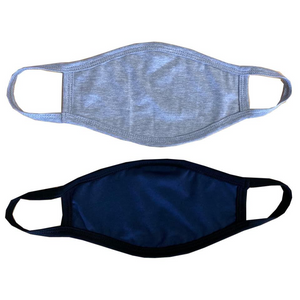 Abri-Wear Reusable Face Mask, Grey/Navy - Pack of 2