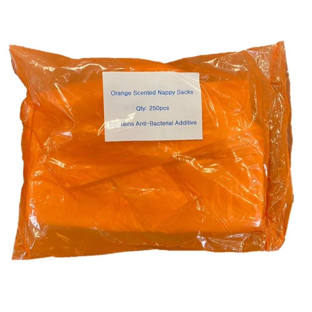 Scented Nappy Sacks - Orange