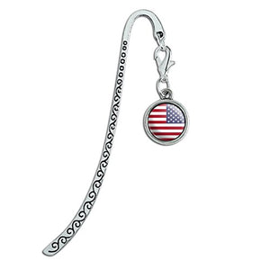 American Flag Metal Bookmark & Page Marker