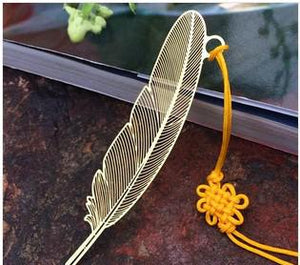 Feather Shape Metal Bookmarks For Books