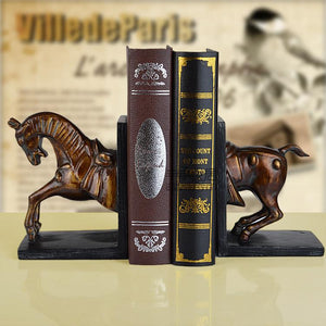 American fashion vintage rustic horse bookend