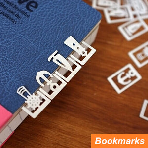 Cute vintage metal bookmark for Book Page Holder