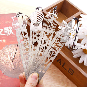 Delicate cutout And ultra-thin metal bookmark for Books Stationery Gifts