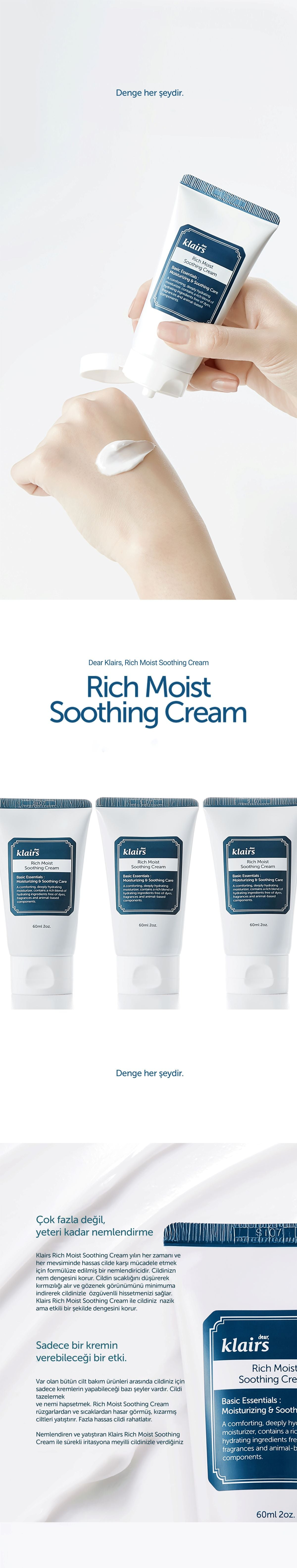 [Klairs] Rich Moist Soothing Cream TR-1