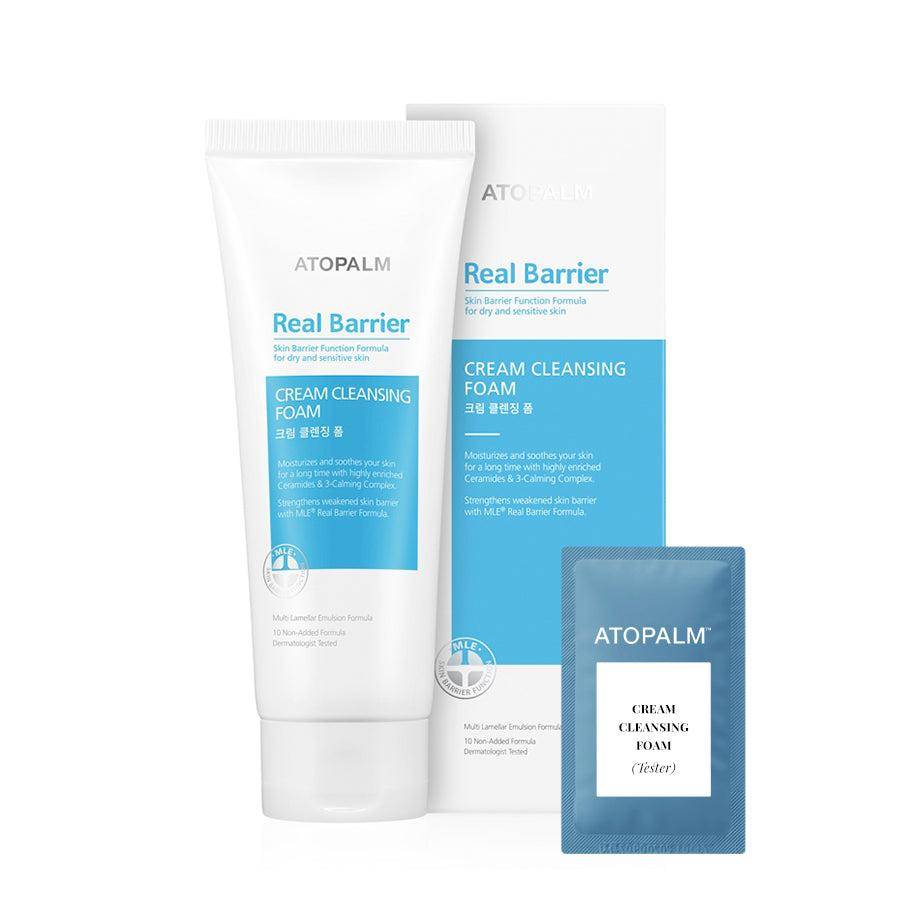 Korendy Kore Kozmetik Kbeauty Cilt Bakım (AT11-Tester) Atopalm - Real Barrier Cream Cleansing Foam 2gr