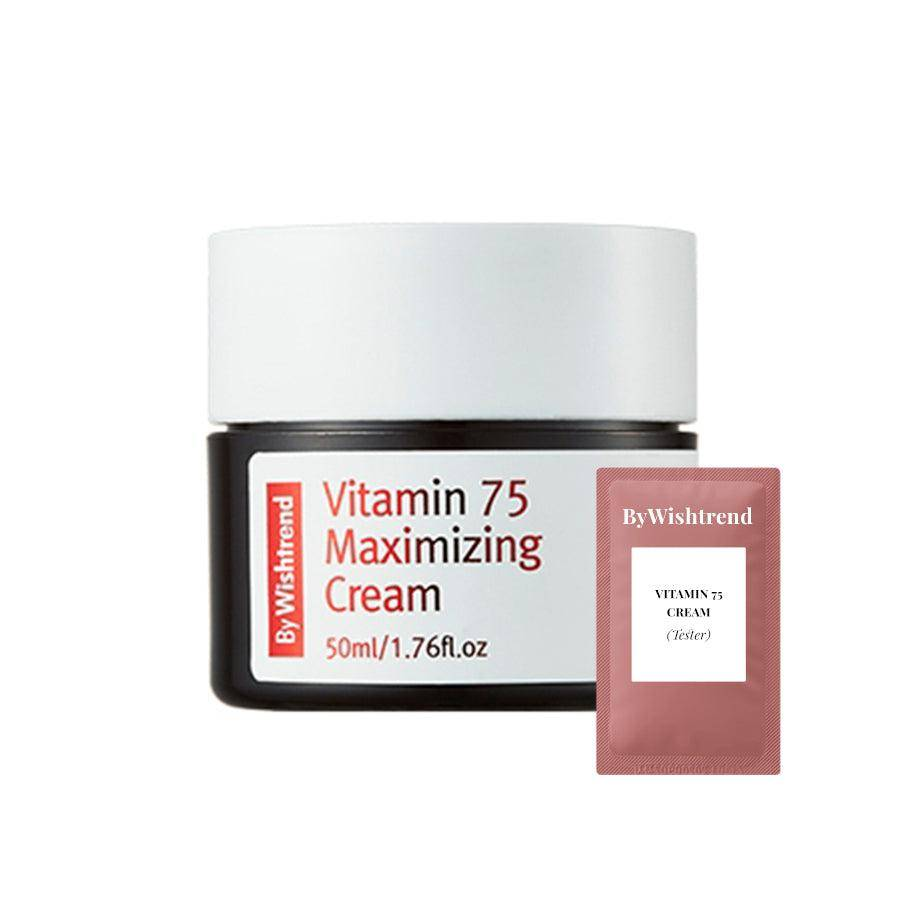 (W01-Tester) By Wishtrend - Vitamin 75 Maximizing Cream 1.5ml Krem Korendy Türkiye Turkey Kore Kozmetik Kbeauty Cilt Bakım