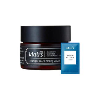 (K08-Tester) Klairs - Midnight Blue Calming Cream 3ml Krem Korendy Türkiye Turkey Kore Kozmetik Kbeauty Cilt Bakım