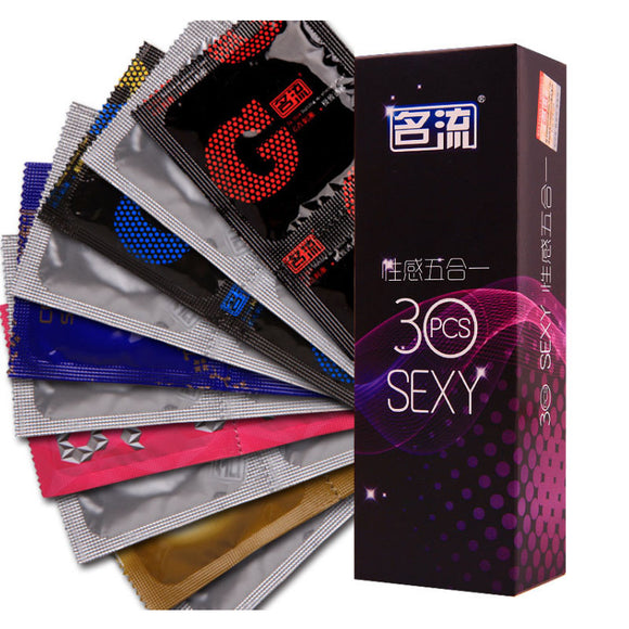 30 Pcs/Pack 5 Types Exotic Condoms