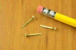 10 oz. BRASS Light Flat Head Canoe Tacks  (1 lb.)